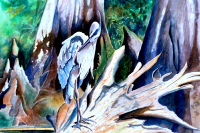 Heron at Cyprus Gardens