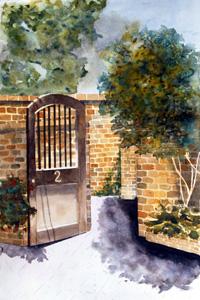 Gate at Audubon Cottages